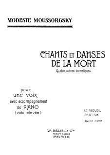 Songs and Dances of Death: For voice and piano by Modest Mussorgsky