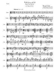 Kani Vur Jan Im - (As long as I live): For viola and classical guitar by Sayat Nova