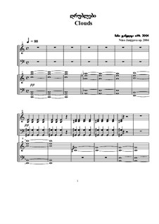 Clouds: For two pianos four hands, Op.2004 by Nino Janjgava