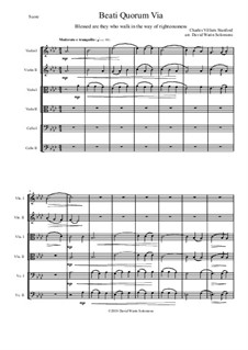 Beati Quorum Via: For string sextet by Charles Villiers Stanford