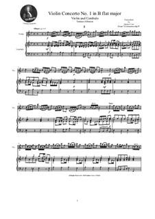 Dodici concerti a cinque, Op.9: Concerto No.1 in B Flat Major, for violin and cembalo (or piano) by Tomaso Albinoni