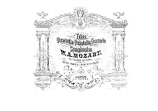 String Quartets: No.14-23. Arrangement for piano four hands by Wolfgang Amadeus Mozart