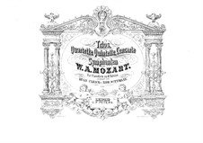 String Quartets: No.17-19. Arrangement for piano four hands, K.458, 464, 465 by Wolfgang Amadeus Mozart