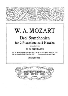 Symphony No.41 in C Major 'Jupiter', K.551: For two pianos eight hands by Wolfgang Amadeus Mozart