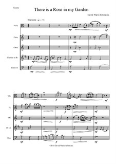 There is a Rose in my Garden: For viola solo and wind quartet by David W Solomons