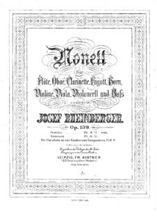 Nonet in E Flat Major, Op.139: Violin part by Josef Gabriel Rheinberger