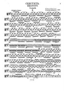 Sextet in A Major: Viola II part by Nikolai Rimsky-Korsakov