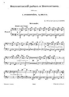 Bal costumé, Op.103: No.5 Pêcheur napolitain et Napolitaine. for Two Pianos Eight Hands – Piano I Part by Anton Rubinstein