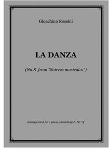Tarantella Napoletana: For piano four hands by Gioacchino Rossini