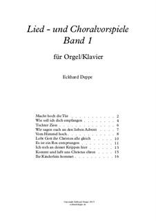 Lied - und Choralvorspiele. Band 1: Vollständiger Satz by Eckhard Deppe
