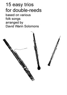 15 easy trios for double-reed trio (oboe, cor anglais, bassoon): Complete set by folklore