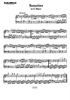 Sonatina in G Major: For piano by Ludwig van Beethoven