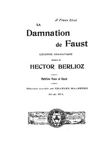 The Damnation of Faust, H.111 Op.24: Piano-vocal score by Hector Berlioz