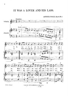 Three Songs, Op.10: No.1 It was a Lover and His Lass by Arthur Foote