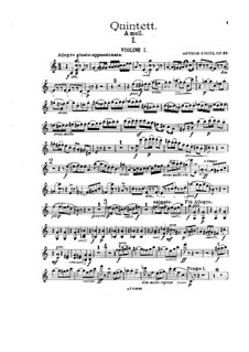 Piano Quintet in A Minor, Op.38: Parts by Arthur Foote