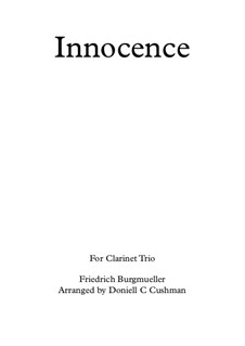 No.5 Innocence: For clarinet trio by Johann Friedrich Burgmüller