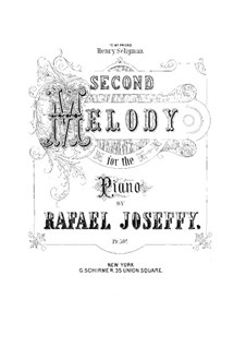 Melody No.2 in E Flat Major: For a single performer by Rafael Joseffy