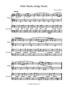 12 Weihnachtslieder für Klavier zu 4 Händen: Nr.2 Stille Nacht, heilige Nacht by folklore, Friedrich Silcher, Franz Xaver Gruber, Ernst Richter, Johann Abraham Schulz, James Lord Pierpont, Unknown (works before 1850)