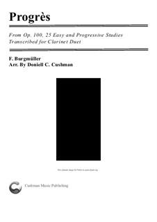 No.6 Progrès (Progress): For two clarinets by Johann Friedrich Burgmüller