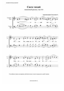 Свете тихий – большого знаменного распева: Для смешанного хора by Sergey Samusenko