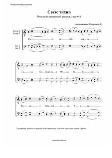 Свете тихий – большого знаменного распева: Для мужского хора by Sergey Samusenko