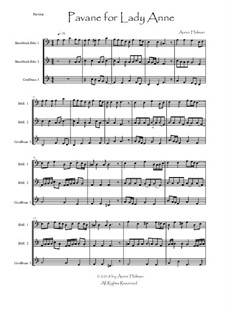 Pavane for Lady Anne: For two bass recorders and great bass recorder by Annie Helman