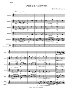 Dusk on Halloween: For piccolo and flute choir by David W Solomons