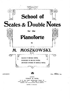 School of Scales and Double Notes, Op.64: Books II-IV by Moritz Moszkowski