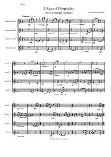 A Rune of hospitality - I saw a stranger yestreen: For clarinet quartet by David W Solomons