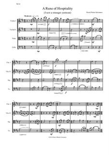 A Rune of hospitality - I saw a stranger yestreen: For string quartet by David W Solomons
