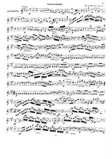 Quintet for Clarinet and Strings in A Major, K.581: Violin I part by Wolfgang Amadeus Mozart