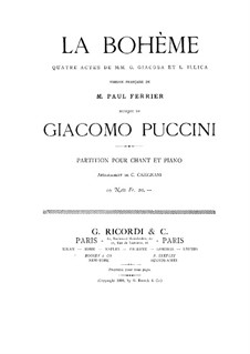 Complete Opera: Piano-vocal score by Giacomo Puccini