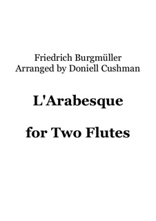 No.2 Arabesque: For flute duo by Johann Friedrich Burgmüller