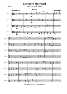 Koraal en Madrigaal: For four violas by Hans Bakker