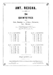 Woodwind Quintet in B Flat Major, Op.100 No.6: Clarinet part by Anton Reicha