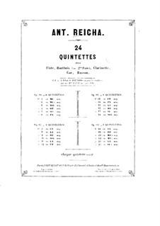 Woodwind Quintet in D Major, Op.91 No.3: Oboe part by Anton Reicha
