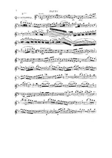 Woodwind Quintet in D Major, Op.91 No.3: Flute part by Anton Reicha