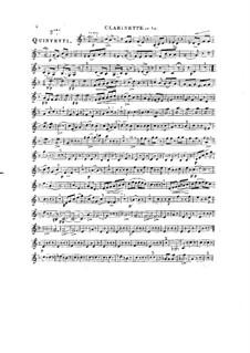 Woodwind Quintet in D Major, Op.91 No.3: Clarinet part by Anton Reicha