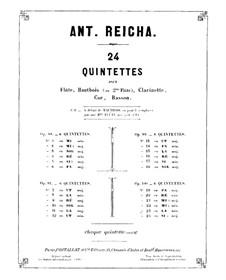 Woodwind Quintet in D Major, Op.99 No.4: Flute part by Anton Reicha