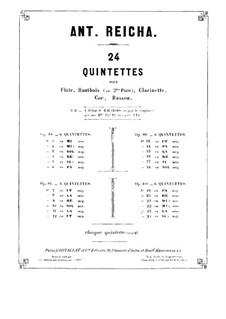 Woodwind Quintet in D Major, Op.99 No.4: Clarinet part by Anton Reicha