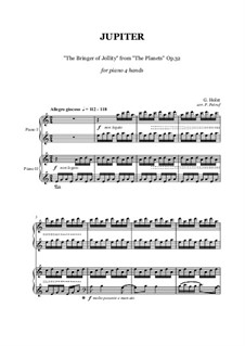 Jupiter: For piano four hands by Gustav Holst