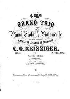 Piano Trio No.4, Op.56: Piano Trio No.4 by Carl Gottlieb Reissiger