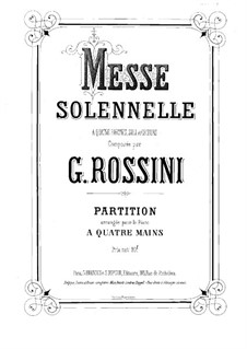 Petite Messe Solennelle: For piano four hands by Gioacchino Rossini