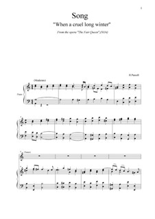 The Fairy Queen, Z.629: When a cruel long winter. Song (No.34) by Henry Purcell