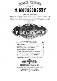 Fragments: Act III Scena II. Introduction and Polonaise, for piano four hands by Modest Mussorgsky