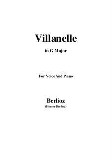 Les nuits d'été (Summer Nights),  H.81 Op.7: No.1 Villanelle (G Major) by Hector Berlioz