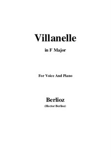 Les nuits d'été (Summer Nights),  H.81 Op.7: No.1 Villanelle (F Major) by Hector Berlioz