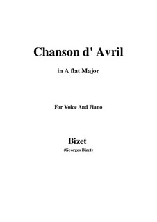 Chanson d'avril (Song of April): A flat Major by Georges Bizet