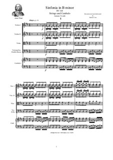 Sinfonia in B Minor, RV 168: For strings and cembalo by Antonio Vivaldi