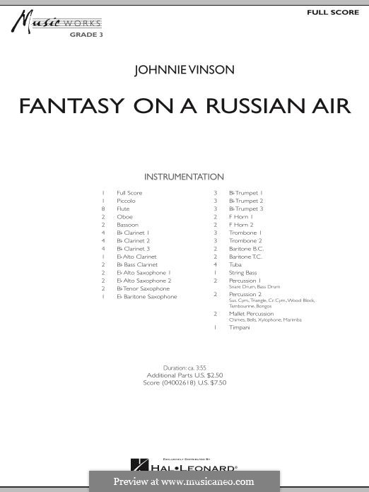 Fantasy on a Russian Air: Full score by Johnnie Vinson
